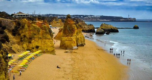 There are about 200 kilometres of beaches in the Algarve