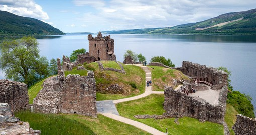 Visit the ruins of Urquhart Castle on Lake Loch Ness