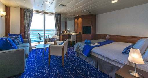 Book the Balcony Stateroom on board your Celestyal Cruise on your Greek Vacation