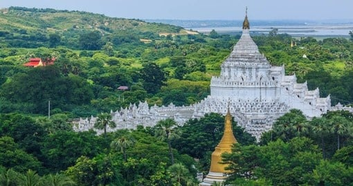 Explore The Hsinbyume White Pagoda during your next trip to Myanmar.