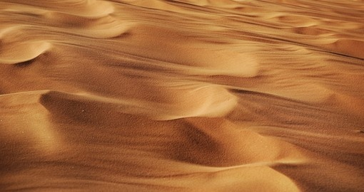 Red sand in a desert of Wadi Rum
