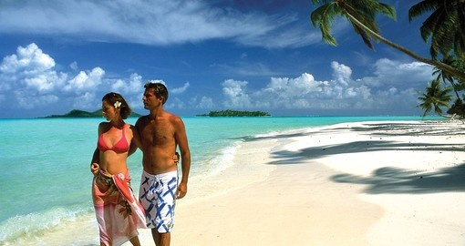 Experience walking on the white beaches during your next Tahiti tours.