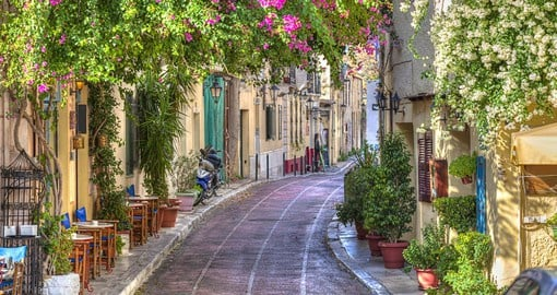 The Plaka is the oldest section of Athens and is home to many restaurants and cafes