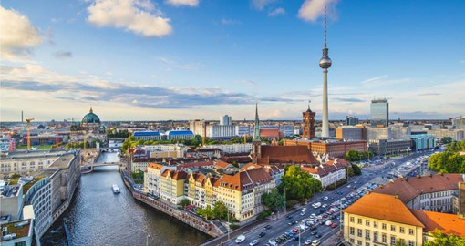 Berlin, on the banks of the Spree River is a highlight of a trip to Germany