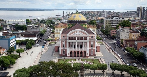 The famous Teatro Amazonas in Manaus is a great photo opportunity on your Brazil vacation