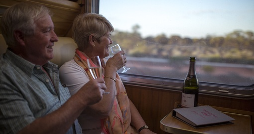 Travel through the Aussie Outback on the iconic Ghan Train