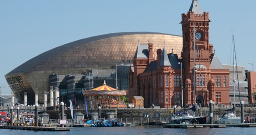 Pierhead Building and Wales Millennium Centre, Cardiff Bay