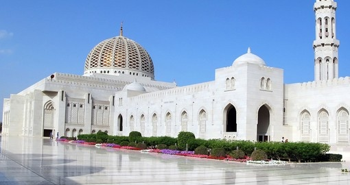 Sultan Qaboos Grand Mosque is a included stop on all Muscat tours.