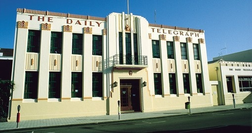 Visit The Daily Telegraph building on your next trip to New Zealand.