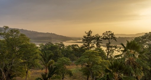 See the magnificent Chagres River and mountains at dawn in Gamboa during your Panama trip.
