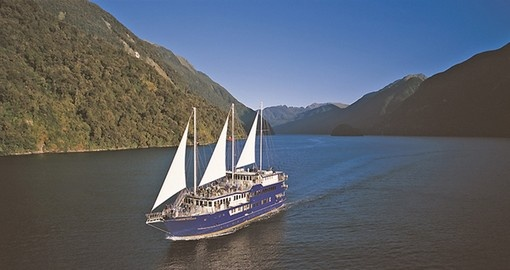 Explore all the amenities of The Fiordland Navigator during your overnight cruise on New Zealand vacation.