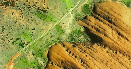 Bird's-eye View of Ayers Rock