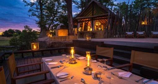 Dinning African style at Zungulila Bushcamp is a highlight of your Zambia Vacation