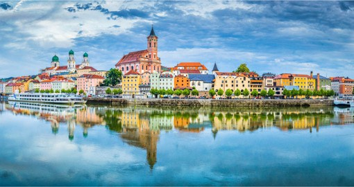 Passau, with its charm and its atmosphere is one of the most beautiful cities on the Danube