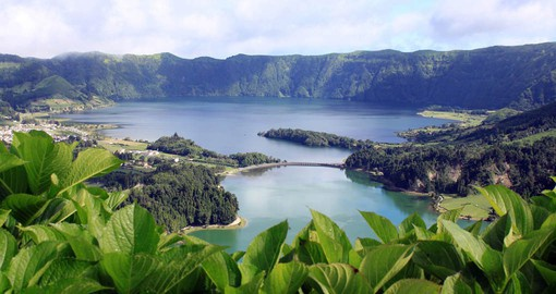 Sao Miguel is the largest of nine islands and is home to the blue and green lakes of Sete Cidades