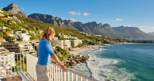 Enjoying the stunning beach views of Cape Town