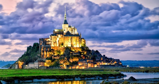 Mont Saint Michel Castle on Hill