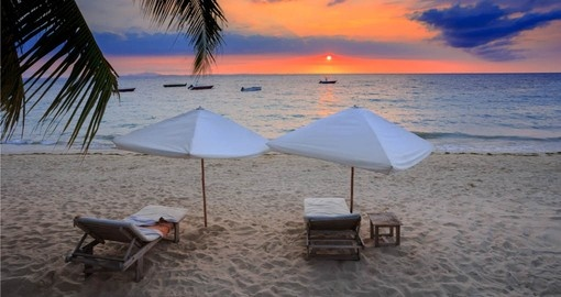Experience the beautiful beach sunsets on your Madagascar Tours