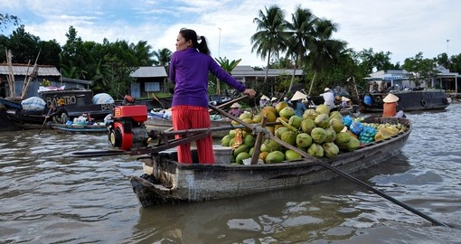 Cai Rang floating market on the Mekong Delta