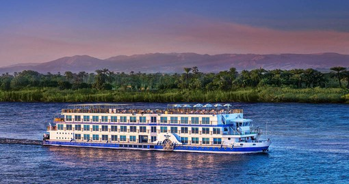A highlight of your Egypt tour is a Nile cruise aboard the Oberoi Philae