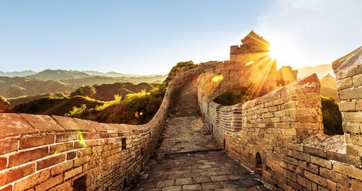Your China travel plans include a visit to The Great Wall near Beijing