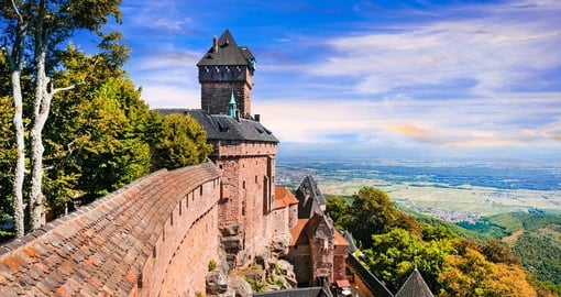 Since its construction in the 12th century, the Haut-Koenigsbourg castle has been  witness to European conflicts and rivalries