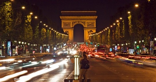 Drive along the Champs-Elysees