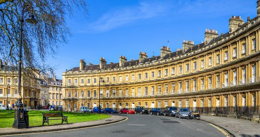 The Royal Crescent, one of Bath's most iconic landmarks, was built between 1767 and 1775 and designed by John Wood
