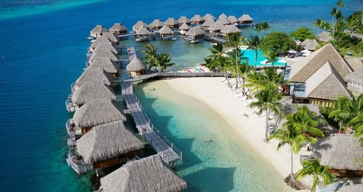 Aerial View of Moorea Pearl Beach Resort