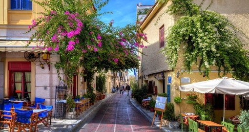 Discover The Plaka, an historic neighbourhood of Athens on your trip to Greece