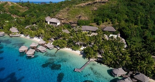 Stay in this luxurious hotel on your Bora Bora Vacation