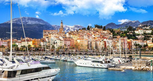 Set between the mountains and the Mediterranean, Menton is the last town on the French Riviera before the Italian border