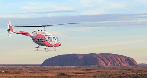 Enjoy a scenic helicopter flight over Uluru on your Australia Vacation