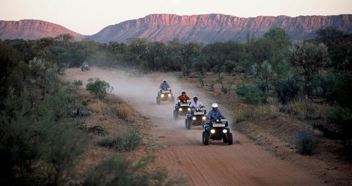 Try the exciting Undoolya Discovery Quad Bike Tour from Alice Springs as part of your Australia Vacation