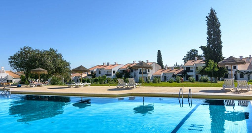 Relax by the pool at Pedras da Rainha on your Portugal vacation