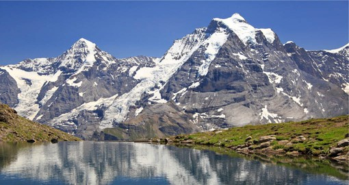 At 4,158 metres, Jungfrau is one of the main peaks of the Bernese Alps