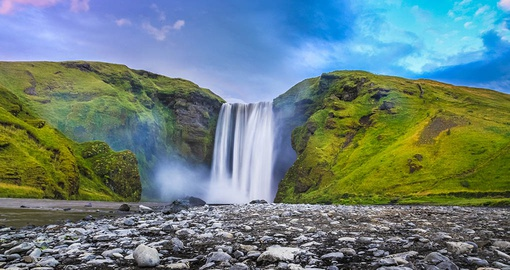 See Stunning Skogafoss Falls on your Iceland Vacation