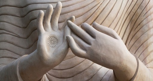 Two hands of Buddha