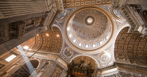 Explore gorgeous and historical St. Peters Basilica during your next Europe tours