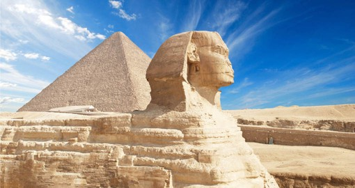 The Giza Plateau includes the Great Pyramids and the Sphinx