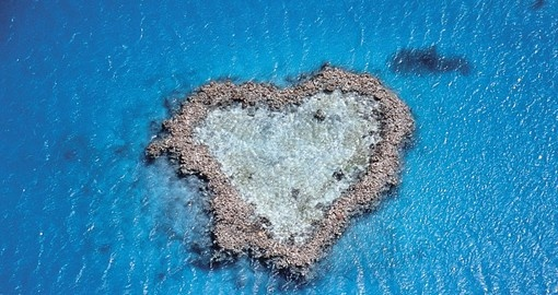Heart Reef is a curious natural ocean creation of a heart