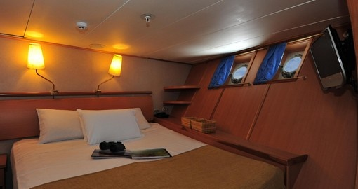 Enjoy all the amenities of the vessel on your next cruise in Ecuador.