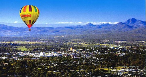 A truly unique experience on your Australia Vacation is a hot air ballon flight over Brisbane
