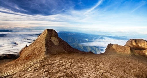 St. John's peak at Mount Kinabalu on the island of Borneo