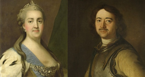 Catherine the Great and Peter the Great
