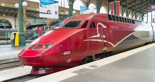 Thalys Train at Gare du Nord in Paris