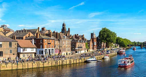 Stroll along the river Ouse on your trip to England