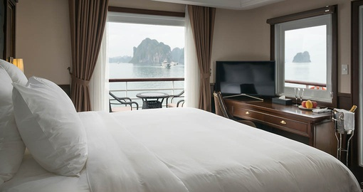 Enjoy all the amenities of the Paradise Elegance during your next Vietnam tours.