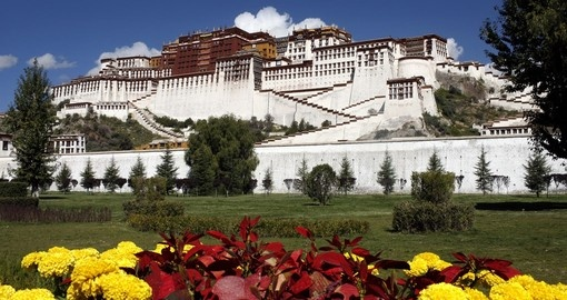 Visit the famous Potala Palace, home of the Dalai Lama on  your China tour