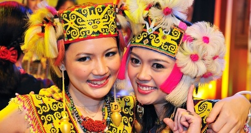 Performers wearing traditional costumes - a great photo opportunity while on one of our Malaysia tours.